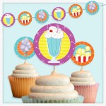 Movie Snacks Party Circles Free Printable