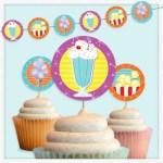 Movie Snacks Party Circles Free Printable