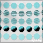Aqua Party Circles Free Printable