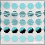 Aqua Party Circles Free Printable