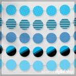 Blue Party Circles Free Printable