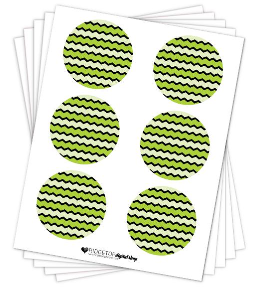 Lime Party Circles Free Printable | Ridgetop Digital Shop