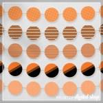 Orange Party Circles Free Printable