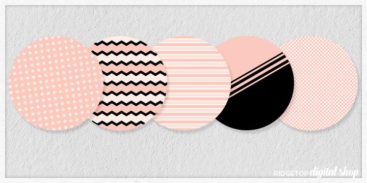 Rose Gold Party Circles Free Printable | Ridgetop Digital Shop