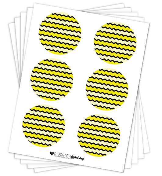 Yellow Party Circles Free Printable | Ridgetop Digital Shop