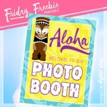Luau Photo Booth Sign Free Printable