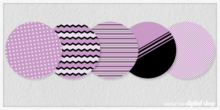 Lavender Party Circles Free Printable | Lavender Birthday Party Idea | Lavender Wedding Reception Idea | Ridgetop Digital Shop