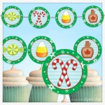 Elf Food Groups Party Circles Free Printable Banner