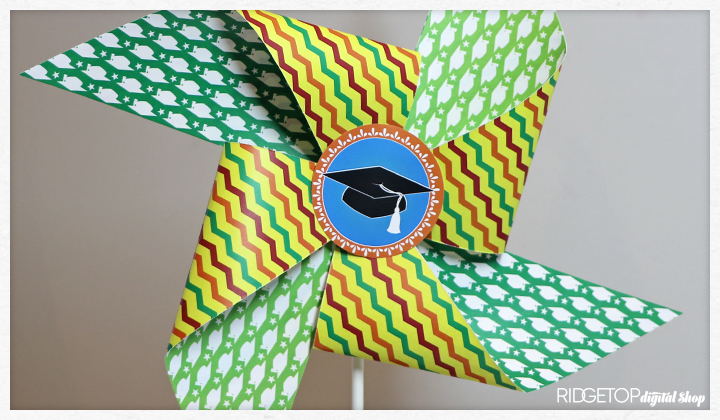 Nacho Average Grad Pinwheel Free Printable | double side printing | Ridgetop Digital Shop