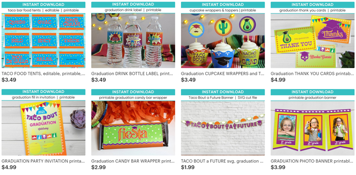 Taco Bout a Graduation Party Decor | Ridgetop Digital Shop