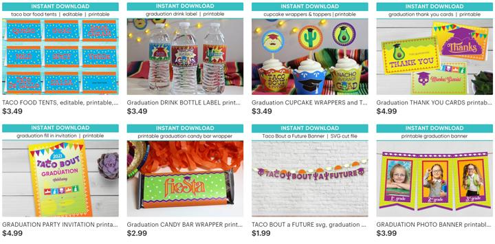 Taco Bout a Graduation Party Decor | Ridgetop Digital Shop