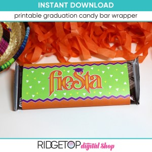 Fiesta Candy Bar Wrapper - printable