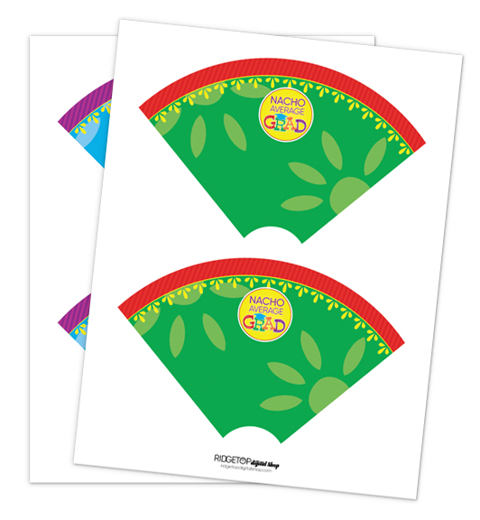Nacho Average Grad Cone Wrapper Free Printable | Ridgetop Digital Shop