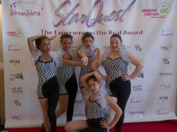 Ridgewood Dancers at StarQuest, Alexis Negron far right