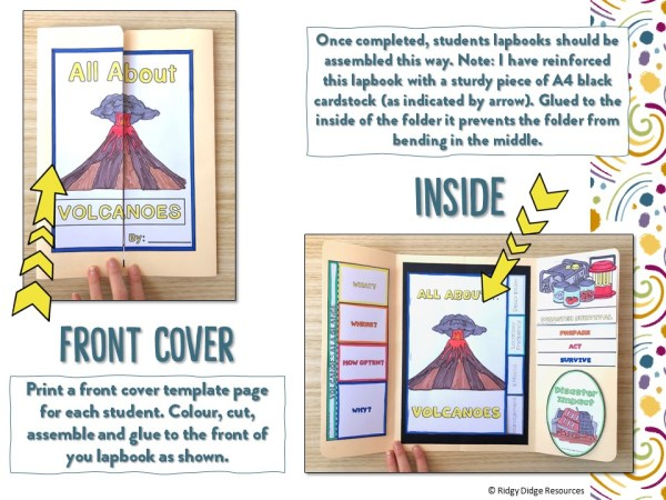 Natural Disasters Lapbook Templates Preview   Ridgy Didge Resources   Australia