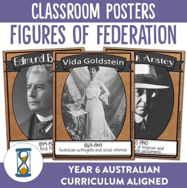 Figures of Federation Posters | Ridgy Didge Resources | Australia