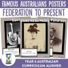 Famous Australians Federation to Present Posters   Ridgy Didge Resources   Australia