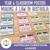 Making a Law in Australia Posters | Ridgy Didge Resources | Australia