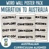 Migration to Australia Word Wall | Ridgy Didge Resources | Australia