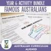 year 6 Famous Australians Activity Bundle | Ridgy Didge Resources | Australia