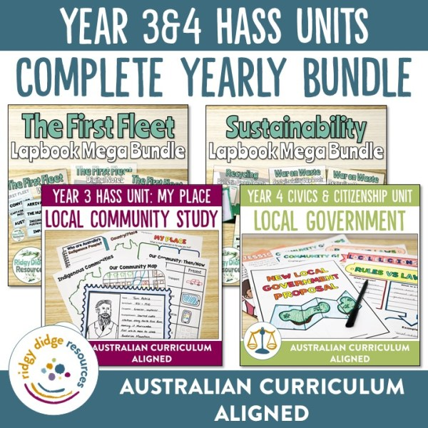 Year 3 and 4 HASS Unit Bundle | Ridgy Didge Resources | Australia