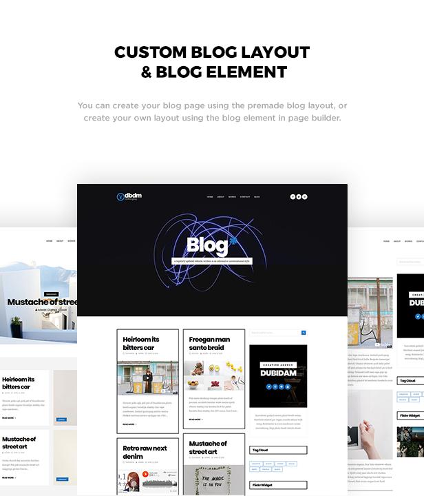 Dubidam - Creative Multi Concept & One Page Portfolio Theme - 2