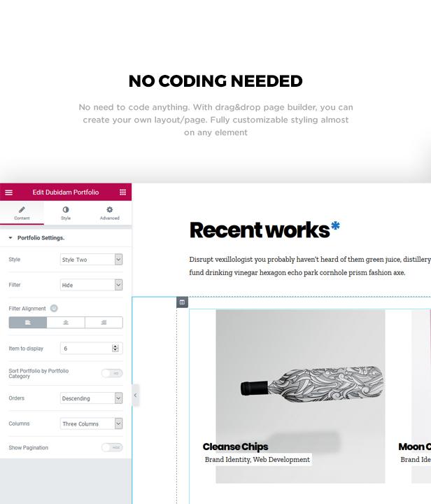 Dubidam - Creative Multi Concept & One Page Portfolio Theme - 4