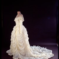 WWII wedding dress made from a life-saving parachute