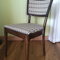 How To Replace Cane Back Chair With Fabric Stool Height The Makeover Ridiculous Redhead