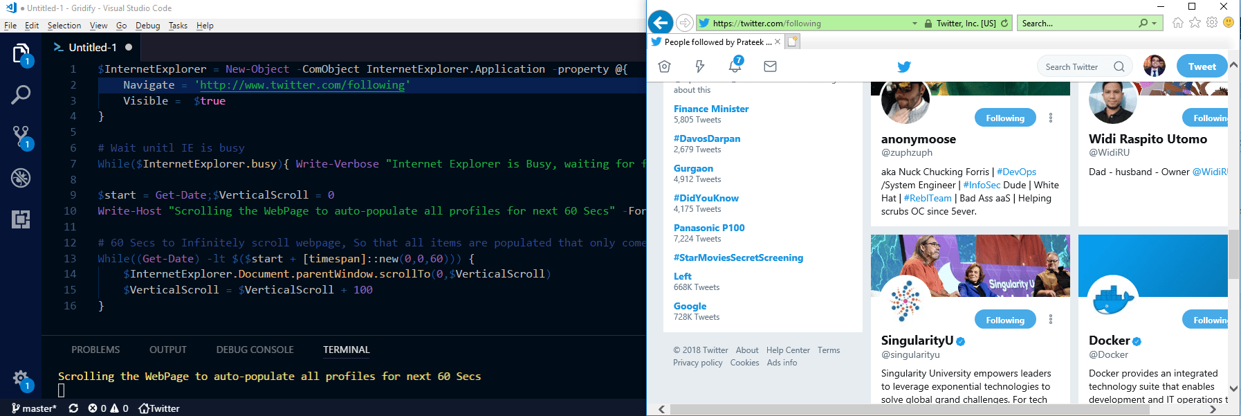 Programmatically Scroll Internet Explorer with PowerShell