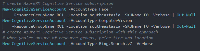 Bing Search Images, detect Emotions with PowerShell & Azure