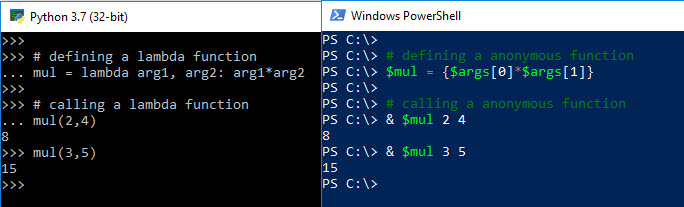PowerShell Guide to Python Anonymous Function