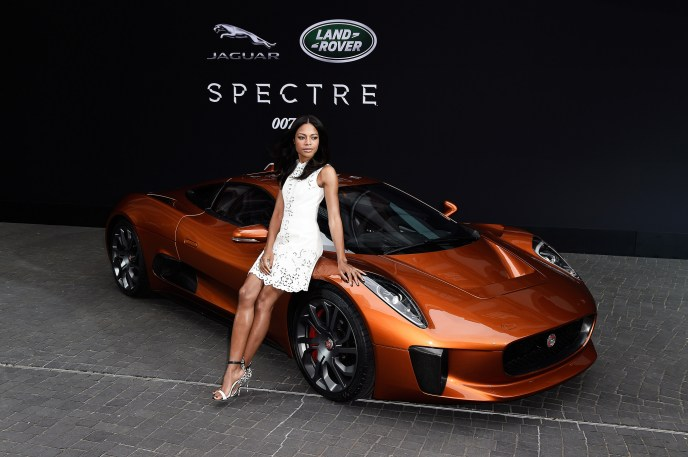 Naomi Harris & Jaguar C-X75 on Ridin