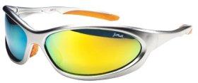 Polarized P13 Sports Wrap Sunglasses with TR90 Frame (Silver & Orange)