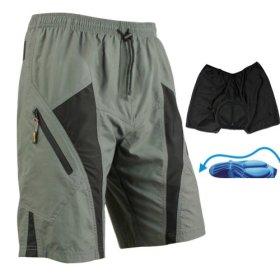 Santic Mens Mountain Loose-fit Biking Shorts Padded Coolmax Cycling MTB Short