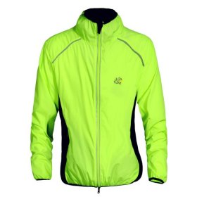 WOLFBIKE Tour de France Cycling Jacket Jersey Sportswear Water-Resistant Running Biking Jacket Long Sleeve Wind Coat Breathable Quick Dry. Color: Green, Size: XL