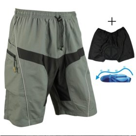 Santic Mens Mountain Loose-fit Biking Shorts Padded Coolmax Cycling MTB Short Size XL
