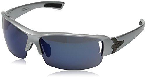 Tifosi Slope Wrap Sunglasses, Metallic Silver, 68 mm