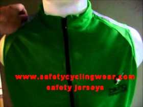 led green safety jersey, cool and safest bike jerseys anywhere safety cycling shirts.wmv