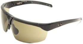 Gargoyles Men's Trial QGY1076.QTM Wrap Sunglasses,Black Frame/Green Lens,one size