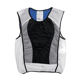 Hyperkewl Ultra Adult Street Racing Motorcycle Vest – Black/Silver / Small