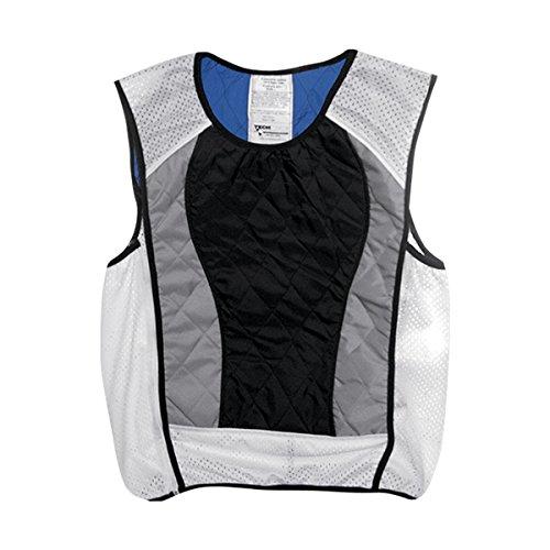 Hyperkewl Ultra Adult Street Racing Motorcycle Vest – Black/Silver / Small