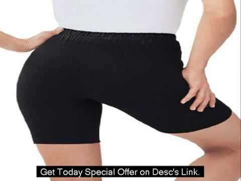Plus Size Bike Shorts In Comfy Stretch Fabric
