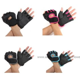 Flowermall Hot GYM Weightlifting Exercise Half Finger Sport Cycling Fitness Gloves
