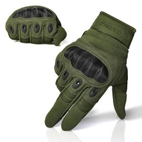 FREETOO® Mens Tactical Gloves Hard Knuckle Full Finger Protective Military Gear for Combat Training Fitness Outdoor Gloves Biking Shooting Motorcycle