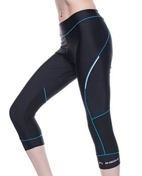 Bicycle Pants Women – 4ucycling Premium 3d Padded Breathable ¾ Cycling Tights – Maximum Comfort to the Thighs – Great for Competitive & Leisure Cycling – 100% Satisfaction Guaranteed