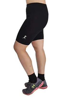 A Big Attitude Women's Plus Size Performance Bike Shorts (3X, Black)