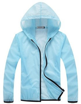 Z-SHOW Womens Super Lightweight Jacket Quick Dry Windproof Skin Coat-Sun Protection (Mint Green,XXL)