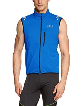 GORE BIKE WEAR Men's Element Windstopper Soft Shell Vest, Brilliant Blue, XX-Large
