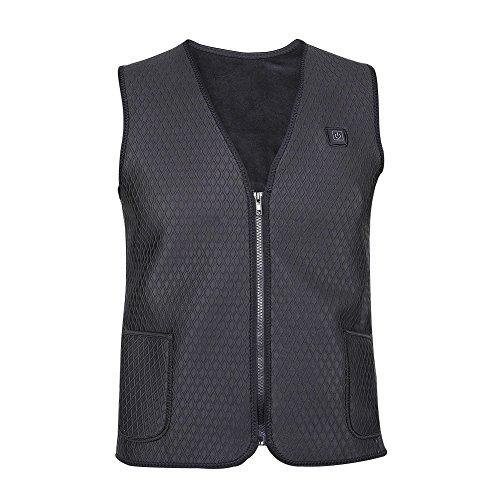 Yosoo Men Mobile Warming Motorcycle Heated Vest Electric Power Vest (M)